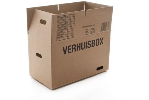 VERHUISDOOS BUDGET 370X650X350MM DUBBELGOLF BRUIN 1 Stuk