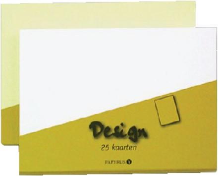 KAART DUBBEL PAPYRUS DESIGN 105X148MM IVOOR 15 Kaart