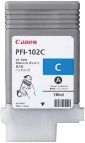 INKCARTRIDGE CANON PFI-102 BLAUW 1 Stuk