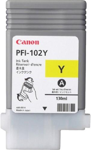 INKCARTRIDGE CANON PFI-102 GEEL 1 Stuk