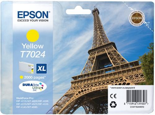 INKCARTRIDGE EPSON T702440 HC GEEL 1 Stuk