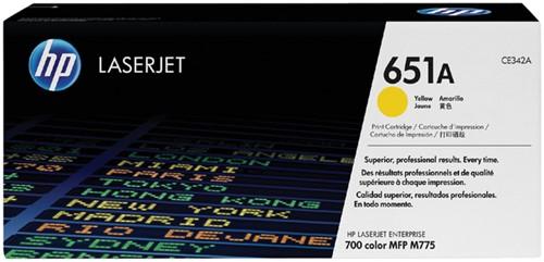 TONERCARTRIDGE HP 651A CE342A 16K GEEL 1 Stuk