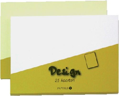 KAART DUBBEL PAPYRUS DESIGN 105X148MM WIT 15 Kaart