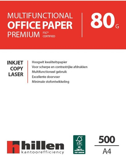 HILLEN Multifunctional Paper A4 80 grs wit